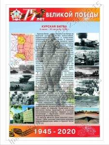 плакат курская битва